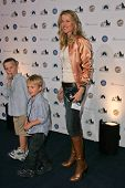 Lucy Lawless and her sons at the Griffith Observatory Re-Opening Galactic Gala. Griffith Observatory