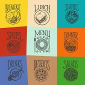 Colorfull menu icons - MEALS