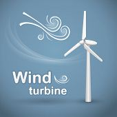 stock photo of generator  - Wind turbine - JPG