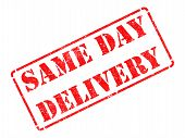 Same Day Delivery on Red Rubber Stamp.