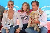 CENTURY CITY - OCTOBER 19: Nicolette Sheridan with Linda Blair and Jimmy Van Patten at the kick off for
