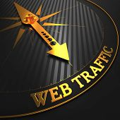 Web Traffic on Black and Golden Compass.