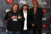 Johnny Van Zant, Gary Rossington and Rickey Medlocke of Lynyrd Skynyrd at the 2012 American Country