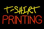Tshirt Printing Neon Sign