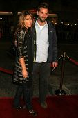 WESTWOOD, CA - NOVEMBER 05: Jennifer Esposito and Bradley Cooper at a Special Presentation of
