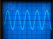 picture of electrical engineering  - electrical signals displayed on the screen of an oscilloscope - JPG