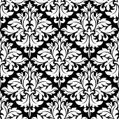 Floral seamless damask pattern
