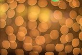 abstract golden and yellow circle bokeh