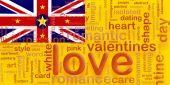 Flag Of Niue Love