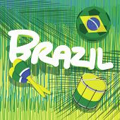 brazil soccer with tropical background
