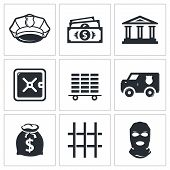 Bank Icons Set
