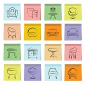 sketched chair icons