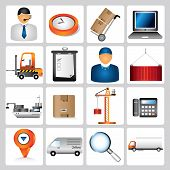 shipping icons, supply chain
