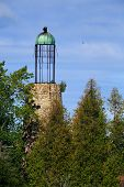 pic of bailey  - The Old Lighthouse at Baileys Harbor in Door County Wisconsin is one of a handful of existing beacons with a birdcage lantern room - JPG