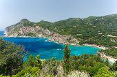 Paleokastritsa coastline, Corfu island, Greece