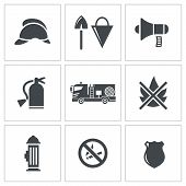 Fire Service icons set