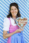 Woman In Dirndl With Gingerbread