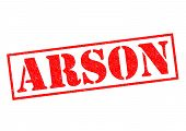 Arson Rubber Stamp