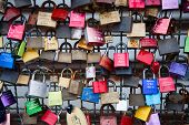 COLOGNE, GERMANY - MAY 29, 2014, Thousands of love locks which sweethearts lock to the Hohenzollern