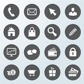 Set Of Business Web Shop Icons