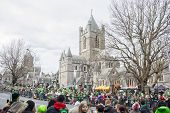 Dublin, Ireland - March 17: Saint Patrick's Day Parade In Dublin Ireland On March 17, 2014
