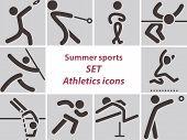 Set Of Athletics Icons
