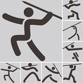 Постер, плакат: Javelin Throw Icons