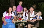 Bavarian Family In The Park