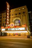 Chicago - April 17: Chicago Theather neon sign on April 17, 2014 in Chicago, IL. It'is a landmark th
