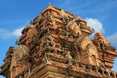 Detail of a large temple towers Po Nagar in Nha Trang Vietnam