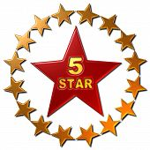 5 Star (with ring of stars)
