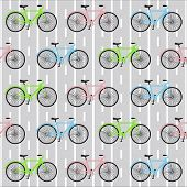 bicycle seamless pattern
