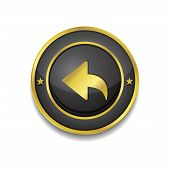 Reset Replay Circular Vector Golden Black Web Icon Button