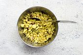 pic of pea  - Indian savoury sweet and sour snacks made from rice flakes - JPG