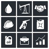 Petroleum Industry Icon Collection