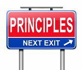 pic of scruple  - Illustration depicting a sign with a principles concept - JPG