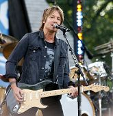 NEW YORK-JUL 11: Country music singer Keith Urban performs on ABC's 'Good Morning America' concert s