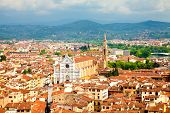 View Of Florence With Santa Croce