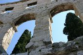Amphitheater in Pula Croatia