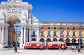 Lisbon, Portugal-May 11: Typical,Tramway on May 11, 2014. Beautiful Tramway in  Lisbon, Portugal, Eu