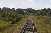 Railway In Cuba Countryside