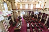 SACRAMENTO, CALIFORNIA - July 4, 2014:  California State assembly meeting room in the historic capit