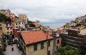 RIOMAGGIORE, ITALY - MAY 02: one of the Cinque Terre villages, UNESCO World Heritage Sites, remains