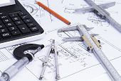 Tools on technical drawings