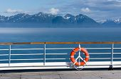 Lifebuoy On The Open Deck Ship In Alaska, United States