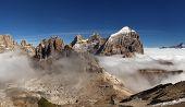 Panoramic View Of Italian Dolomities - Group Tofana