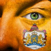 Dutch Coat Of Arms Painted On Orange Face