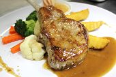 Course Grilled Lamb Steak With Spicy Pepper Sauce
