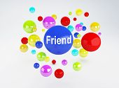 Friend Sign. Social Network  Concept.