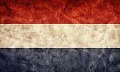 Netherlands grunge flag. Vintage, retro style. High resolution, hd quality. Item from my grunge flags collection.